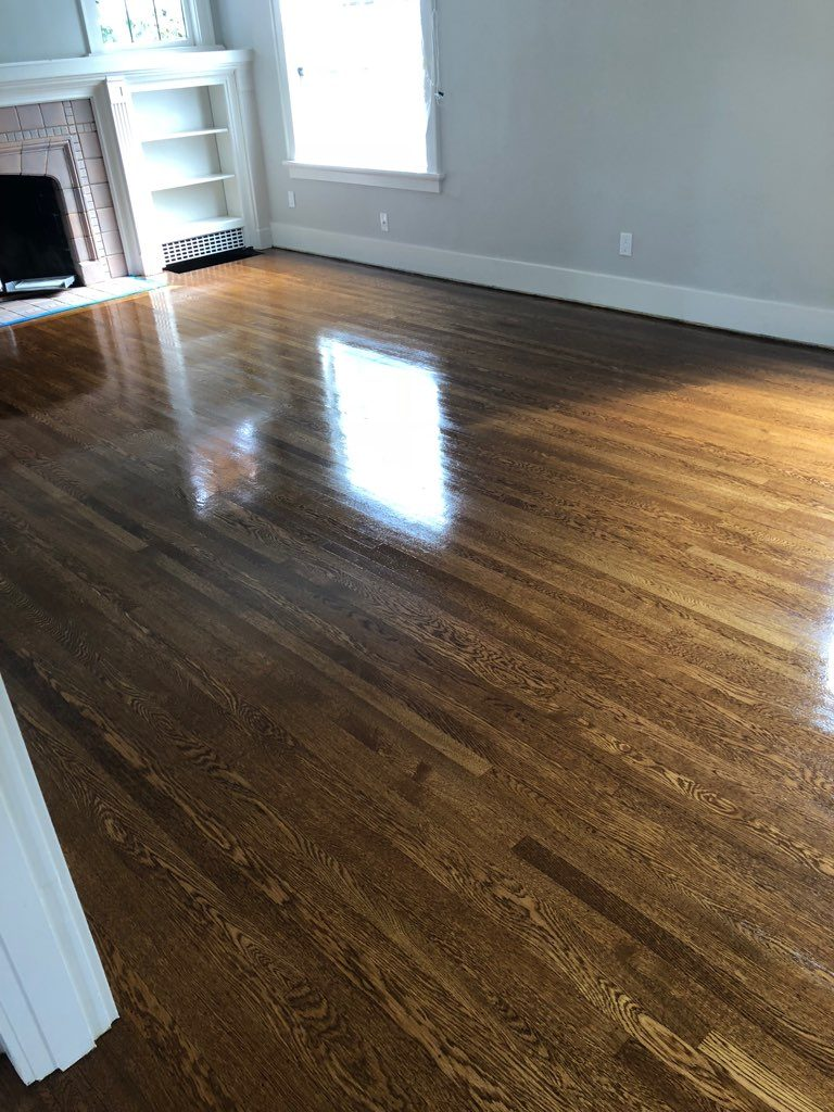 Refinished Solid Hardwood Flooring Seattle
