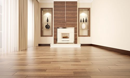 Wood Floor Ties With Hardwood Natural Satin Finish