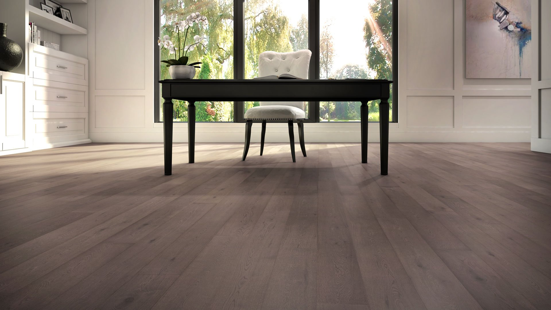 5-inch Engineered Hardwood Flooring Luxury Wide Plank Neutral
