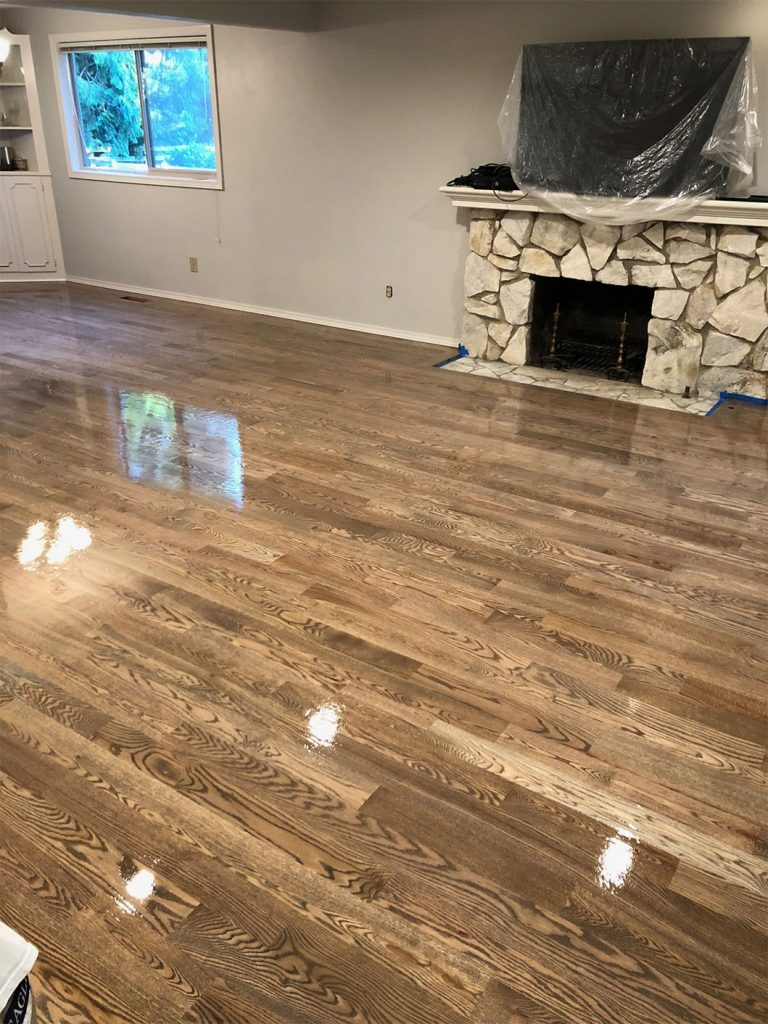 Freshly Stained And Coated Hardwood Floors Solid