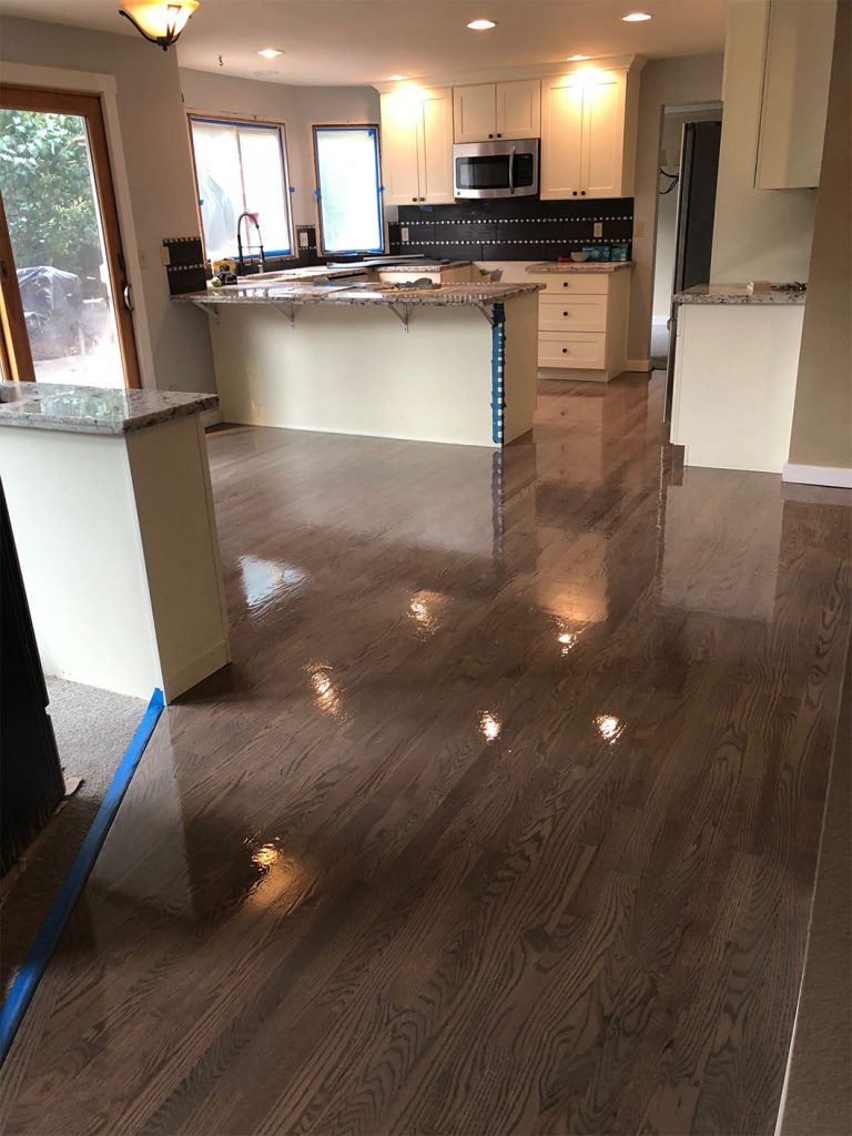 Kitchen And Dining Room Wood Floors Refinish Revive