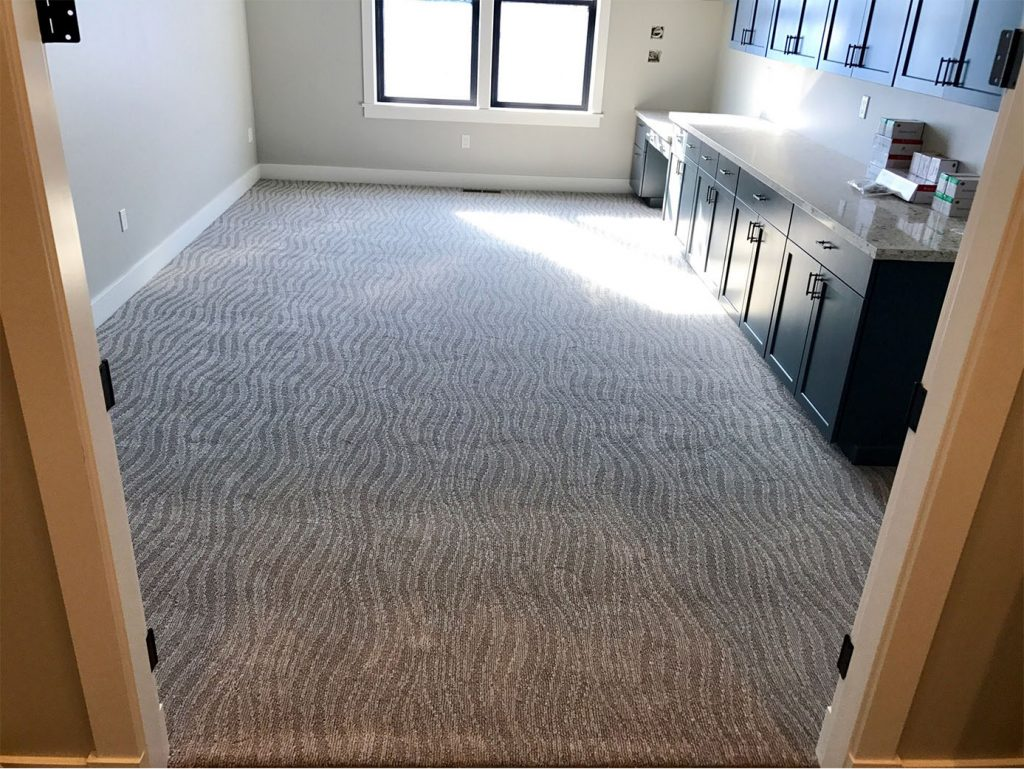 Living Room Patterned Carpet Low Pile