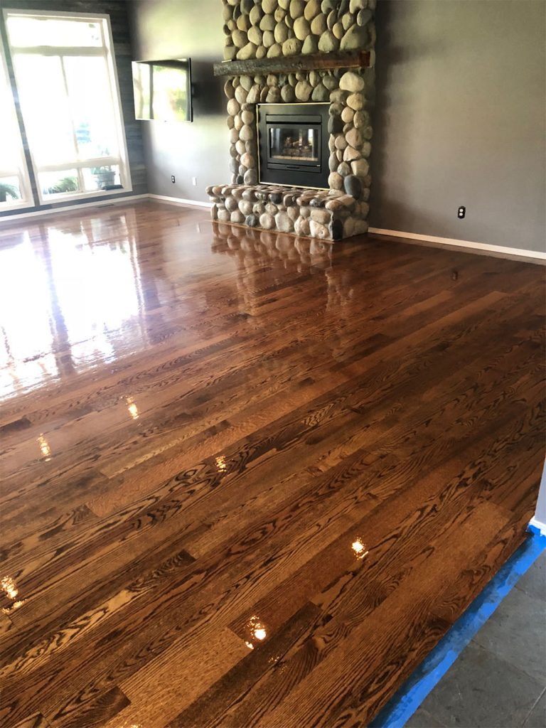 Refinished Solid Oak Floors