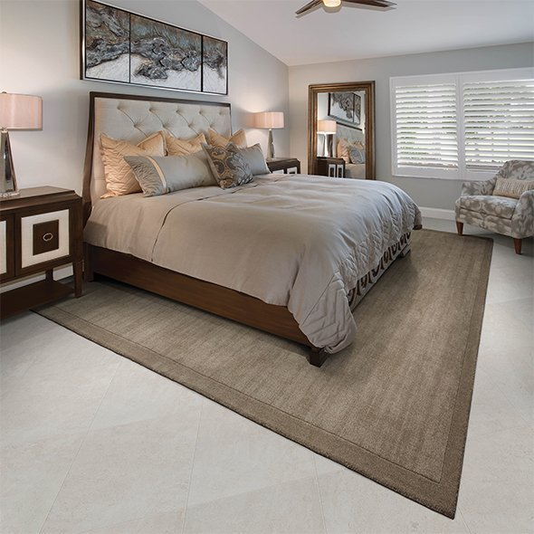 Custom Rug in Master Bedroom