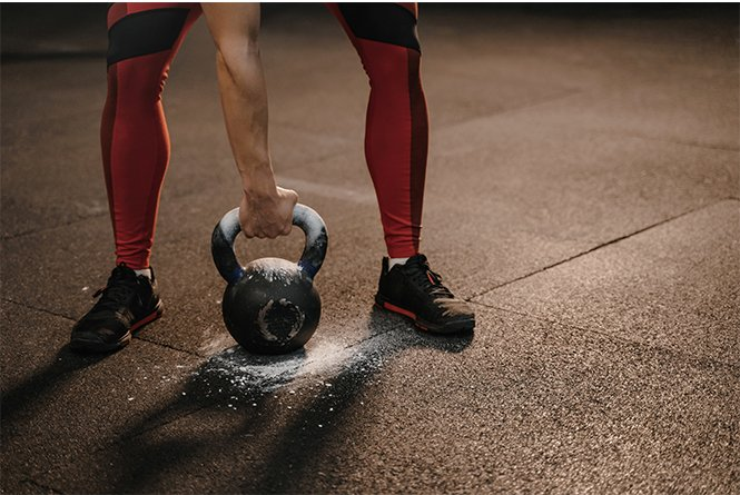 Rubber Flooring Gym With Kettlebell